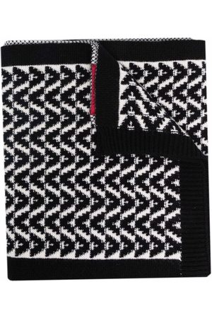 VALENTINO VLogo knitted scarf - Neutrals