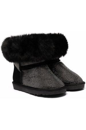 MONNALISA TEEN faux fur-trim boots