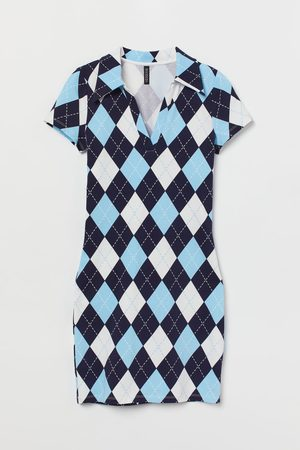 H&M Women Casual Dresses - Collared Jersey Dress