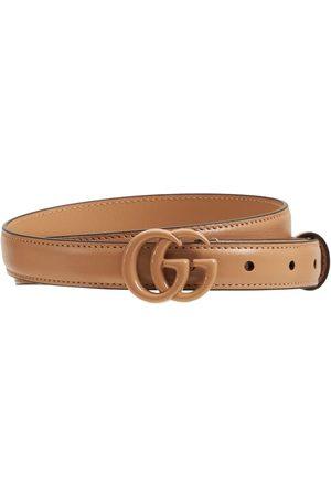 Gucci Women Belts - 2cm Gg Marmont Thin Belt