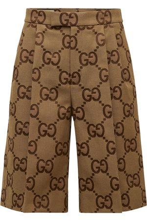 Gucci Men Shorts - Jumbo Gg Canvas Shorts