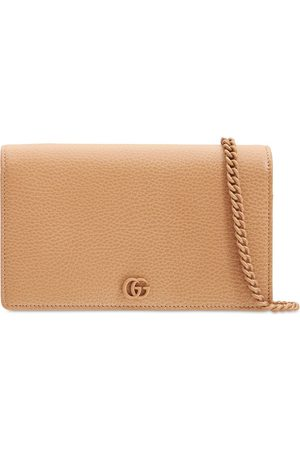 Gucci Women Wallets - Gg Marmont Leather Mini Chain Wallet