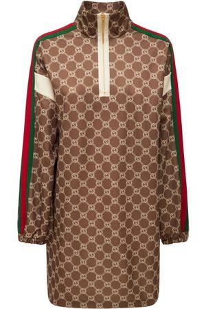 Gucci Printed Technical Jersey Mini Dress