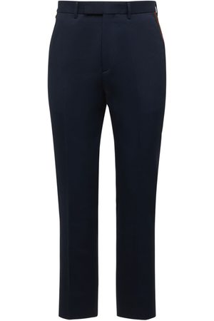 Gucci Cotton Ankle Pants W/ Web
