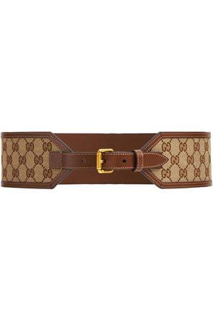 Gucci 7cm Gg Wide Canvas Belt