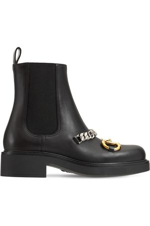 Gucci 25mm Deva Leather Ankle Boots
