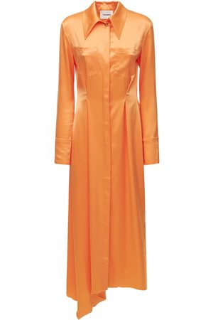 Nanushka Women Casual Dresses - Mamo Satin Shirt Midi Dress