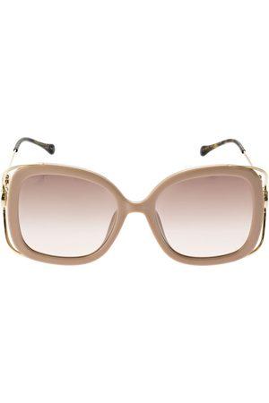 Gucci Horsebit Squared Metal Sunglasses
