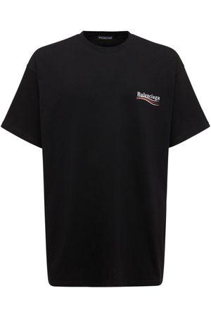 Balenciaga Political Logo Crewneck T-shirt