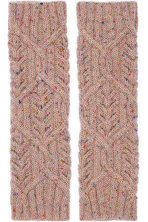 Loro Piana Baby Cashmere Knit Tweed Wrist Warmers