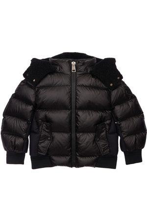 Moncler Boys Jackets - Deschamps Hooded Nylon Down Jacket