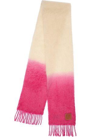 Loewe Dyed Mohair Blend Scarf W/ Logo Detail