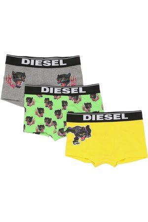 Diesel Boys Boxer Shorts - Set Of 3 Cotton Jersey Boxer Briefs