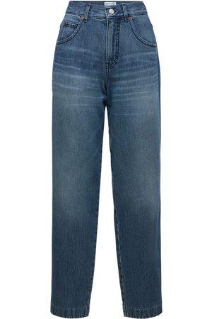 Victoria Beckham Diana Mid Rise Straight Denim Jeans