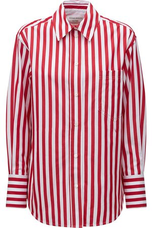 Victoria Beckham Striped Oversize Cotton Poplin Shirt