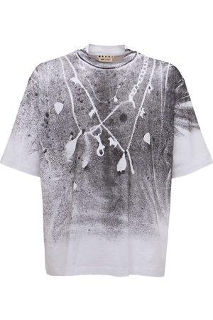 MARNI Men T-shirts - Found Treasures Print Jersey T-shirt