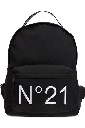 Nº21 Embroidered Logo Nylon Backpack