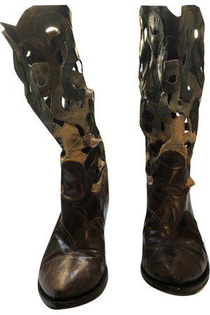 GIANNI BARBATO Leather cowboy boots