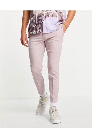 Topman Men Sweatpants - Smart skinny sweatpants in lilac