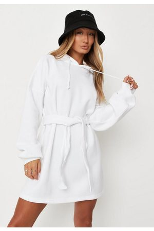 Missguided Basic Hooded Belted Sweater Dress