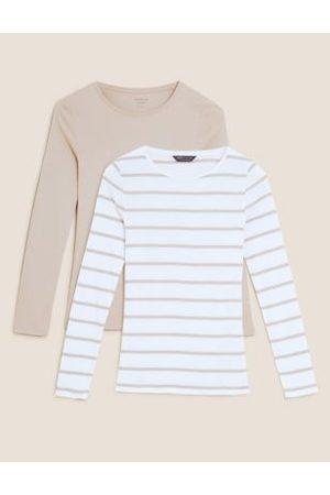 Marks & Spencer Women Long sleeves - 2 Pack Regular Fit Long Sleeve Tops