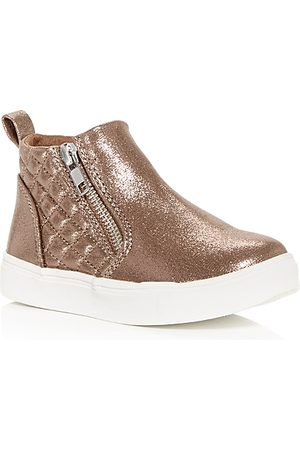 Steve Madden Girls' TReggie Mid Top Sneakers - Toddler