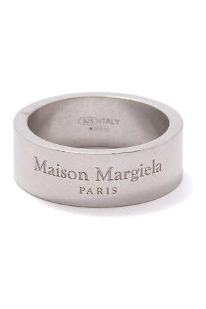 Maison Margiela Logo-engraved Sterling- Ring - Mens