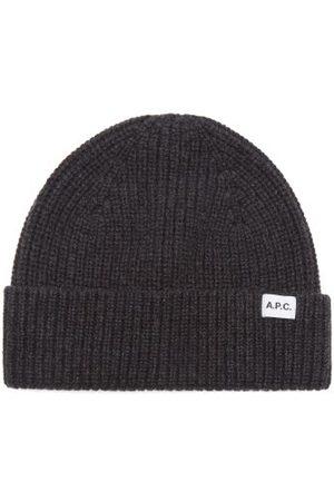 A.P.C. Billie Wool-blend Beanie Hat - Mens - Grey