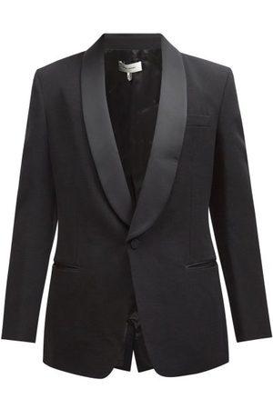 Isabel Marant Leno Single-breasted Wool Tuxedo Jacket - Mens