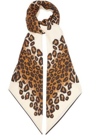 Raey Leopard-print Wool-blend Twill Scarf - Womens - Print