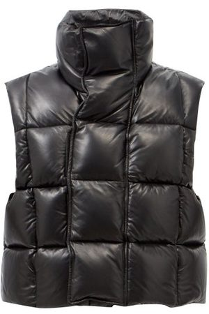 Givenchy Men Gilets - Quilted Down Leather Gilet - Mens