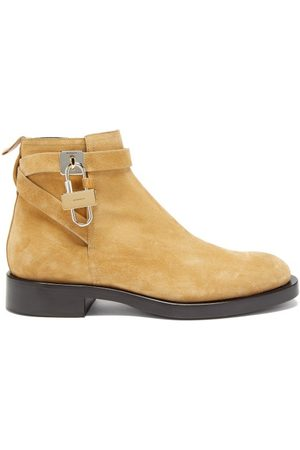 Givenchy Lock-embellished Suede Ankle Boots - Mens