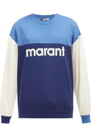Isabel Marant Aftone Colour-block Cotton-jersey Sweatshirt - Mens - Multi