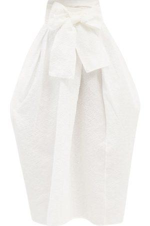 Cecilie Bahnsen Junita Cloqué Wraparound Skirt - Womens