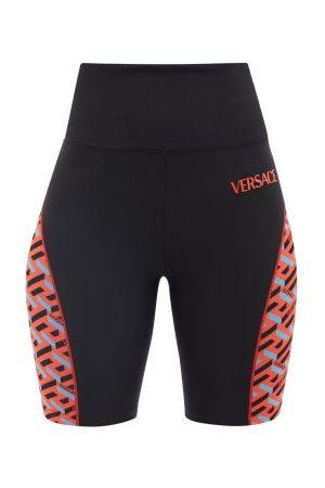 VERSACE Logo-print Jersey Cycling Shorts - Womens
