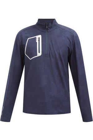 Polo Ralph Lauren Quarter-zip Camouflage Jersey Sweatshirt - Mens - Navy