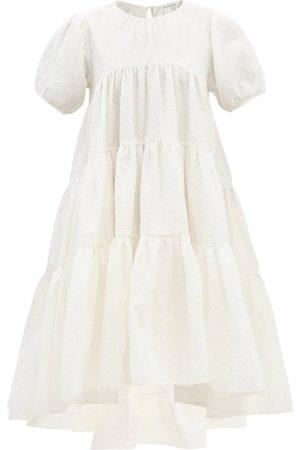 Cecilie Bahnsen Esme Puff-sleeve Cotton-blend Matelassé Dress - Womens