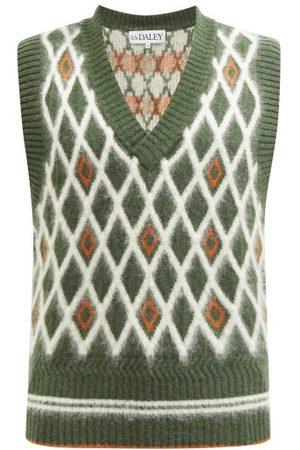 S.s. Daley Jupp Argyle-knit Wool-blend Sleeveless Sweater - Mens