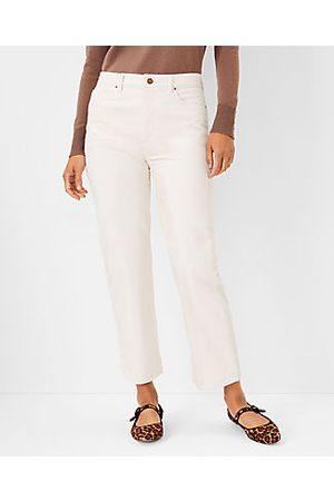 ANN TAYLOR The Petite Easy Straight Corduroy Pant