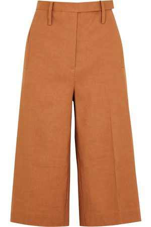 Oroton Women Culottes - Burnt orange linen-blend culottes