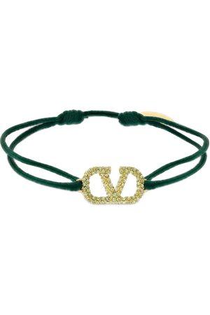 VALENTINO GARAVANI Women Bracelets - Crystal V Logo Slim Bracelet