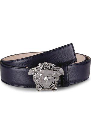 VERSACE Men Belts - Palazzo Medusa Buckle Leather Belt