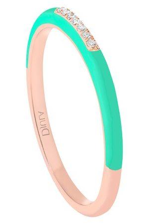 DJULA Women Rings - Green enamel band ring
