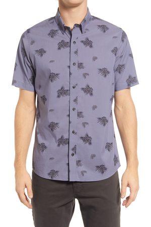 Travis Mathew Men's Fresh To Depth Floral Short Sleeve Stretch Button-Up Shirt