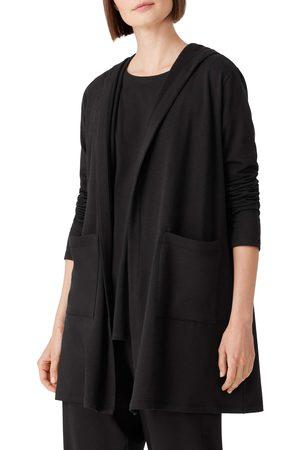 Eileen Fisher Women's Open Front Hooded Cardigan
