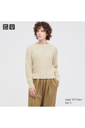 UNIQLO Women's U Low Gauge Crew Neck Long-Sleeve Sweater, , XXS