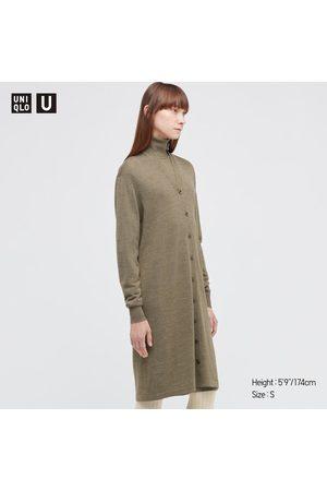 UNIQLO Women Long sleeves - Women's U Merino-Blend Long-Sleeve Long Cardigan, , XXS