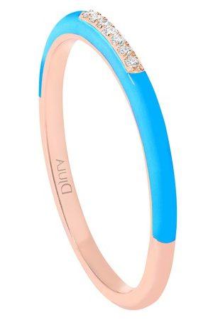 DJULA Women Rings - Blue enamel band ring