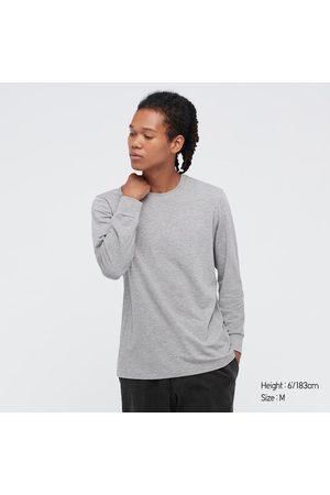 UNIQLO Men's HEATTECH Cotton Crew Neck Long-Sleeve T-Shirt (Extra Warm), , XS