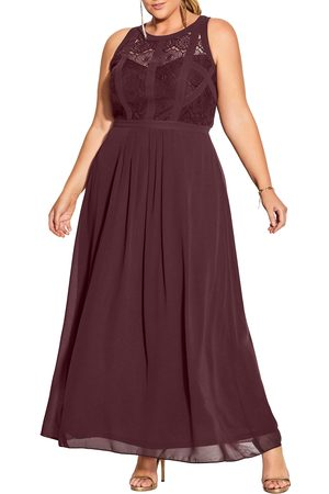 City Chic Plus Size Women's Paneled Bodice Maxi Dress